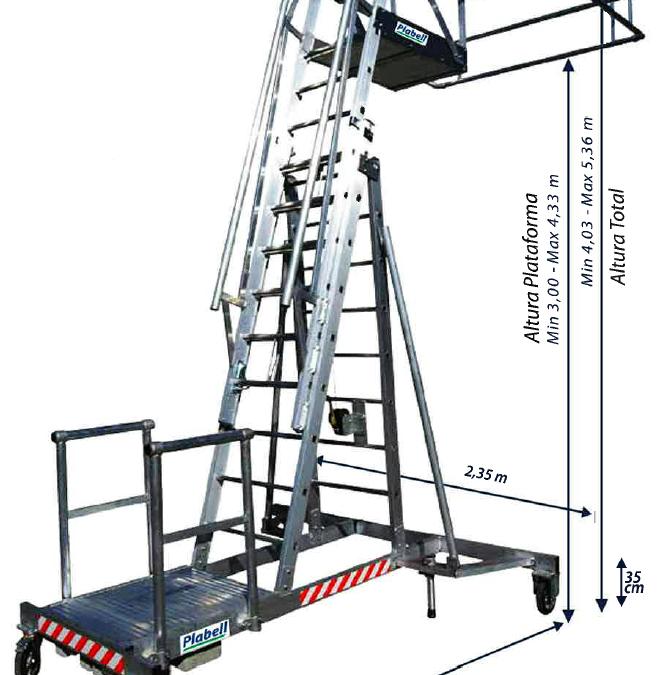 Escalera rediseñada para camiones cisterna