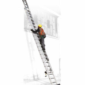 Escalera con cable de acero de tres tramos en apoyo