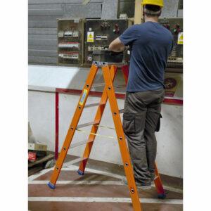 Escalera de doble subida de fiberglass