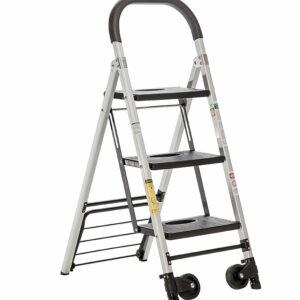 Escalera carretilla de aluminio